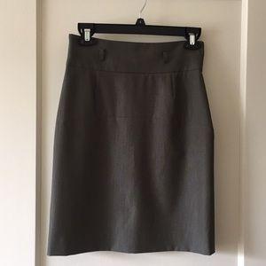 Gianni Bini Women's Army Green Pencil Skirt
